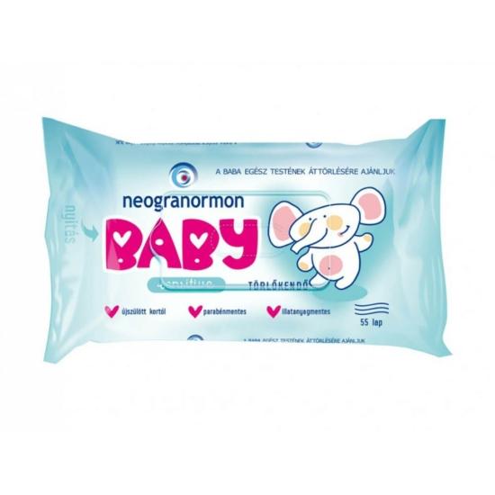 Neogranormon Baby baba törlőkendő 55lapos Sensitive (16db/krt)