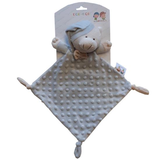 Gamberritos szundikendő plüss buborékos anyagú, hálósapkás maci 9353 szürke
