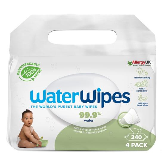 WaterWipes BIO Szappanbogyó Törlőkendő Value Pack 4x60db