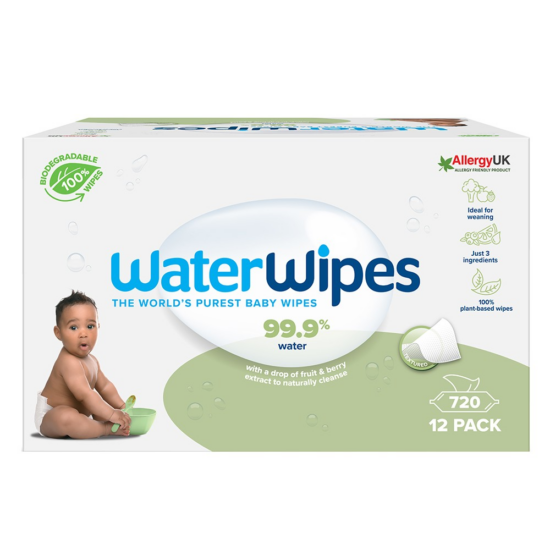 WaterWipes BIO Szappanbogyó Törlőkendő Mega Pack 720db