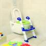 Kép 3/7 - KidsKit WC fellépő lépcső, bili és szűkítő, 3 az 1-ben, kék-fehér-zöld