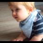 Kép 7/7 - Bibetta nyálkendő dupla nedvszívó réteggel - kék csillagos
