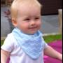 Kép 4/6 - Bibetta nyálkendő dupla nedvszívó réteggel - kék csíkos
