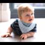 Kép 6/6 - Bibetta nyálkendő dupla nedvszívó réteggel - kék csíkos