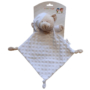 Kép 1/2 - Gamberritos szundikendő plüss buborékos anyagú, hálósapkás maci 9353 fehér