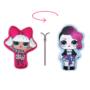 Kép 1/2 - Kifordítható LOL Baba játékpárna kislányoknak - kettő az egyben párna - pink-világoskék