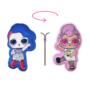 Kép 1/2 - Kifordítható LOL Baba játékpárna kislányoknak - kettő az egyben párna - világosrózsaszín-királykék
