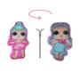 Kép 1/2 - Kifordítható LOL Baba játékpárna kislányoknak - kettő az egyben párna - világoslila-rózsaszín