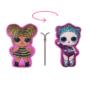 Kép 1/2 - Kifordítható LOL Baba játékpárna kislányoknak - kettő az egyben párna - pink-pink