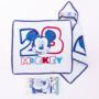 Kép 1/2 - Mickey egér baba kapucnis törölköző - pamut babatörölköző – fehér-sötétkék